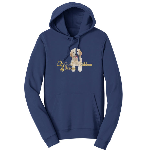 Gold Ribbon Rescue Puppy Logo - Hoodie