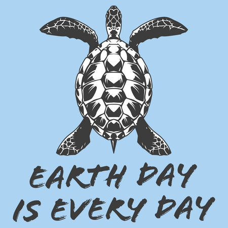 Earth Day Is Every Day - Sea Turtle Design - Adult Unisex T-Shirt