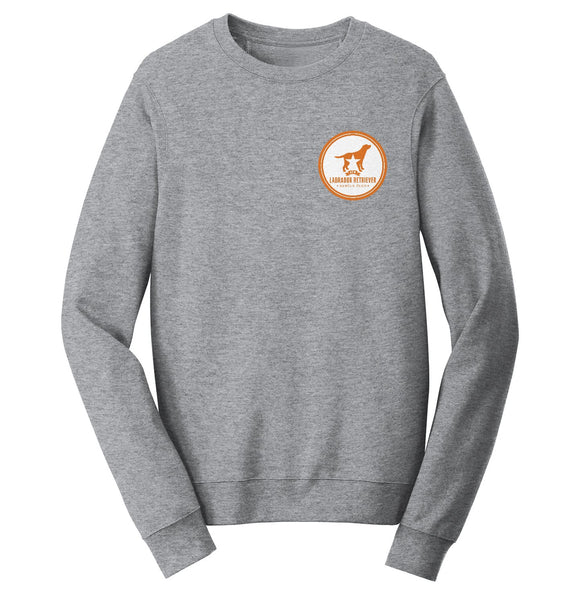 DFWLRRC - Burnt Orange DFWLRR Logo - Adult Unisex Crewneck Sweatshirt