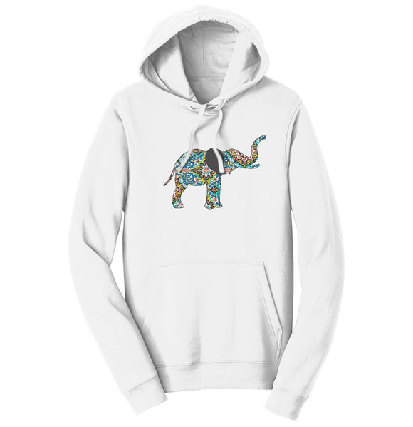 Elephant Mosaic Hoodie Sweatshirt | International Elephant Foundation