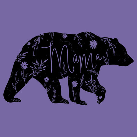 Mama Bear Silhouette | Mom Bear - Women's Tri-Blend T-Shirt