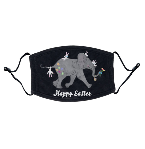 Easter Baby Elephant and Friends  - Adult Adjustable Face Mask
