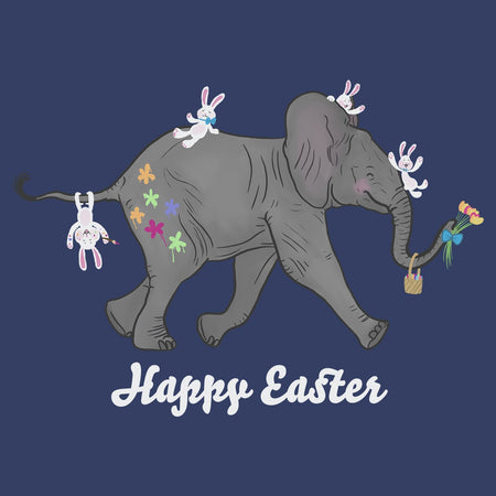 Easter Baby Elephant and Friends  - Adult Unisex T-Shirt