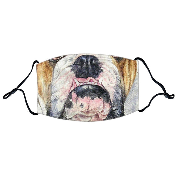 Parker Paws Store - Bulldog Face - Adjustable Face Mask