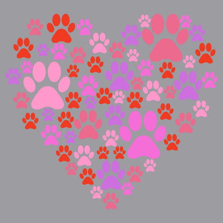 Pink Paw Heart - Adult Unisex T-Shirt