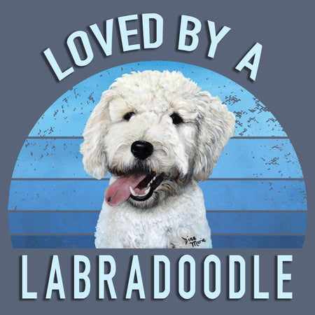 Loved By A Labradoodle - Adult Tri-Blend T-Shirt