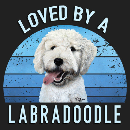 Loved By A Labradoodle - Women's V-Neck T-Shirt