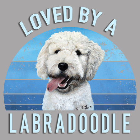 Loved By A Labradoodle - Women's V-Neck Long Sleeve T-Shirt
