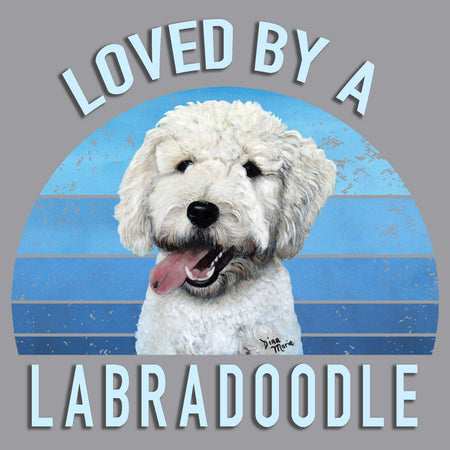 Loved By A Labradoodle - Adult Unisex Long Sleeve T-Shirt