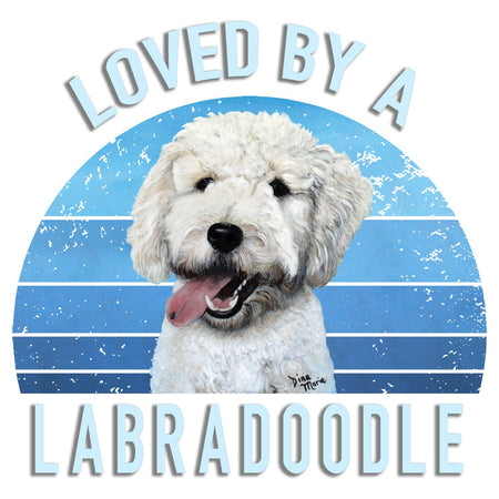 Loved By A Labradoodle - Women's Tri-Blend T-Shirt