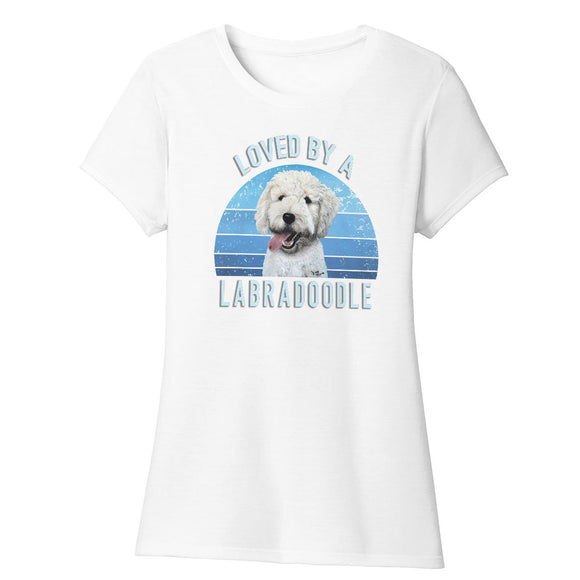 Parker Paws Store - Loved By A Labradoodle - Women's Tri-Blend T-Shirt