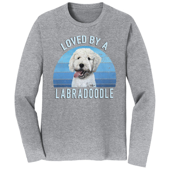 Parker Paws Store - Loved By A Labradoodle - Adult Unisex Long Sleeve T-Shirt