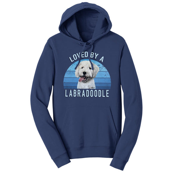 Parker Paws Store - Loved By A Labradoodle - Adult Unisex Hoodie Sweatshirt