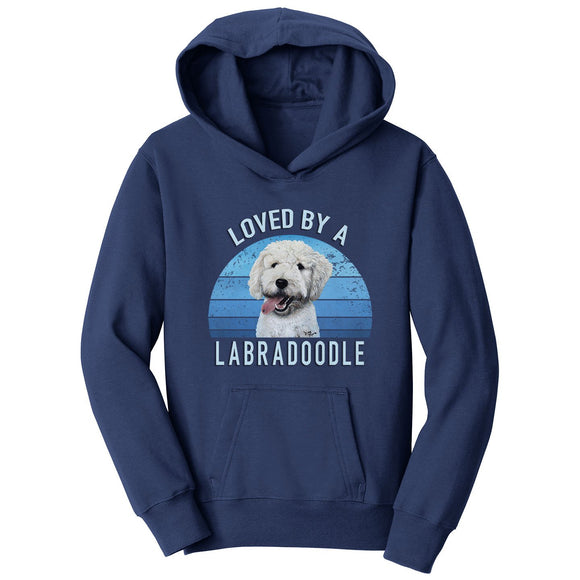 Parker Paws Store - Loved By A Labradoodle - Kids' Unisex Hoodie Sweatshirt