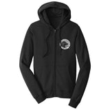 The Labrador Retriever Club - LRC Logo - Left Chest Black & White - Adult Unisex Full-Zip Hoodie Sweatshirt