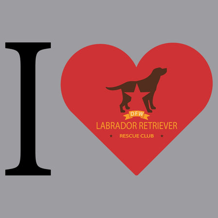 I Heart My DFW Lab Rescue - Adult Unisex T-Shirt