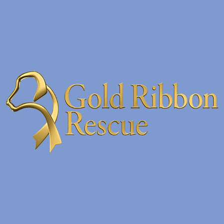 Gold Ribbon Rescue Logo - Adult Tri-Blend T-Shirt