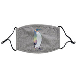 Northern Lights Penguin - Adult Adjustable Face Mask