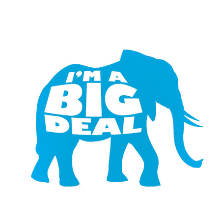 I'm a Big Deal Elephant Silhouette - Adult Unisex T-Shirt