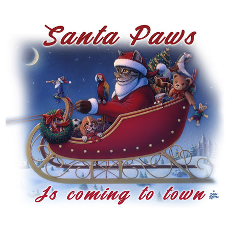 Santa Paws is Coming - Women's V-Neck T-Shirt