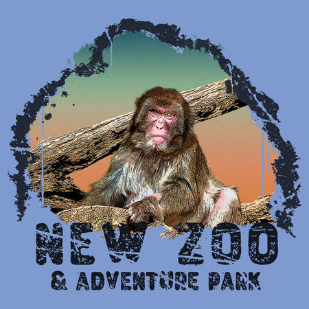 NEW Zoo Japanese Macaque Monkey Sunset - Adult Tri-Blend T-Shirt