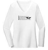 IEF Logo - Women's V-Neck Long Sleeve T-Shirt