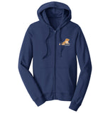 Golden Rescue South Florida Left Chest Logo - Full-Zip Hoodie