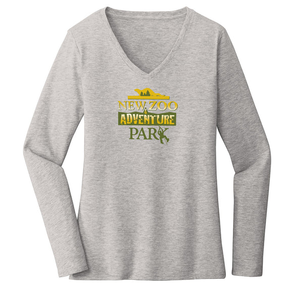 NEW Zoo & Adventure Park - Logo - Women's V-Neck Long Sleeve T-Shirt