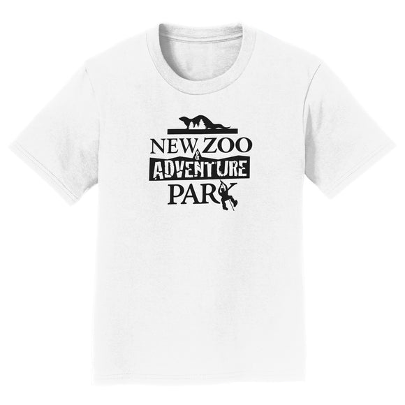 NEW Zoo & Adventure Park - Black & White Logo - Kids' Unisex T-Shirt