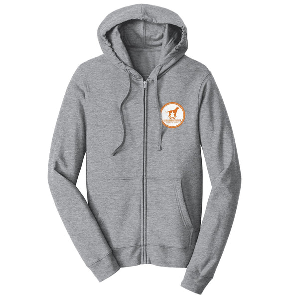 DFWLRRC - Burnt Orange DFWLRR Logo - Adult Unisex Full-Zip Hoodie Sweatshirt