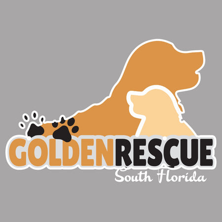 Golden Rescue South Florida Logo - Women's V-Neck Long Sleeve T-Shirt