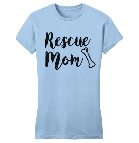 Rescue Mom with Bone - Women's Fitted T-Shirt