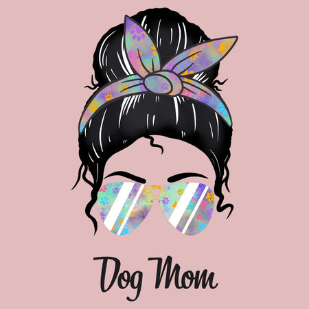 Dog Mom Lady - Women's Fitted T-Shirt
