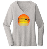 IEF Sunset Logo - Women's V-Neck Long Sleeve T-Shirt