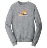 Golden Rescue South Florida Logo - Adult Unisex Crewneck Sweatshirt
