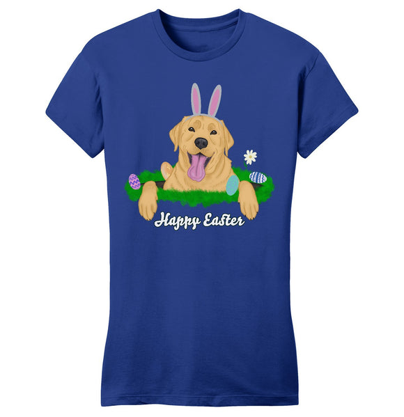 Rabbit Hole Yellow Labrador  - Women's Fitted T-Shirt