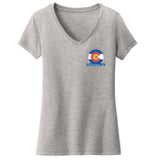 Golden Retriever Freedom Rescue Colorado Flag Logo - Left Chest - Women's V-Neck T-Shirt