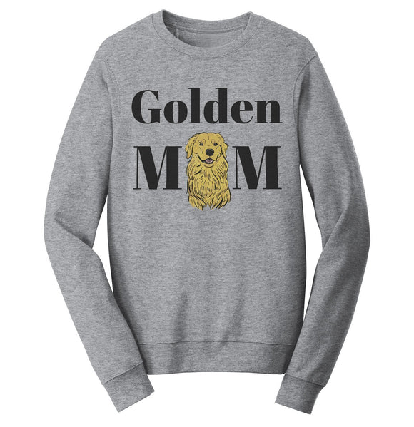 Golden Mom Illustration - Adult Unisex Crewneck Sweatshirt