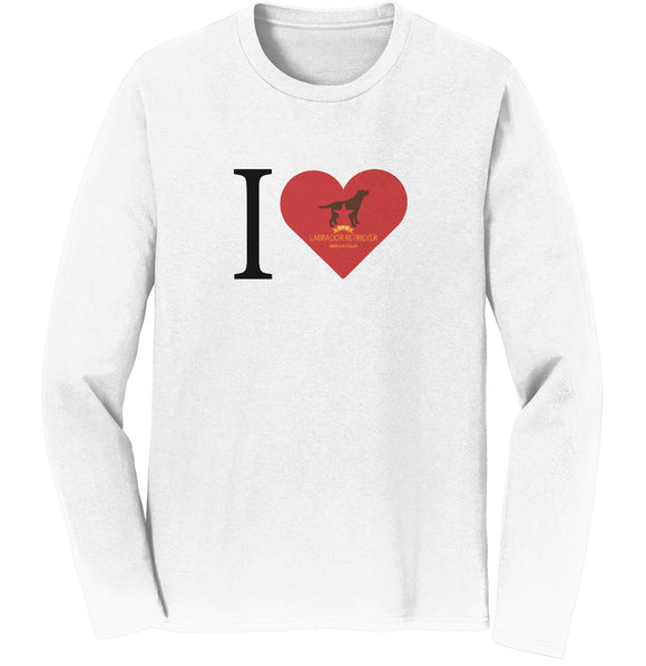 I Heart My DFW Lab Rescue - Long Sleeve T-Shirt