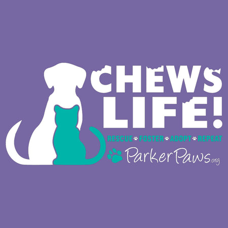 Parker Paws Logo Chews Life - Women's Tri-Blend T-Shirt