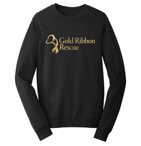 Gold Ribbon Rescue Logo - Crewneck Sweatshirt