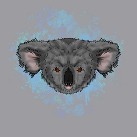 Koala Blue Illustration - Adult Adjustable Face Mask