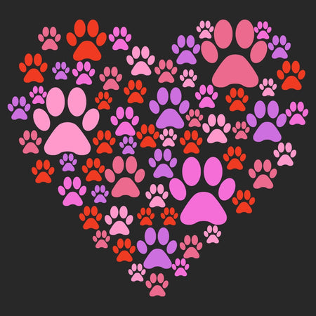 Pink Paw Heart - Women's V-Neck T-Shirt