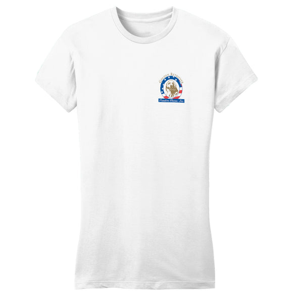 GRFR - Golden Retriever Freedom Rescue Logo - Left Chest - Women's Fitted T-Shirt
