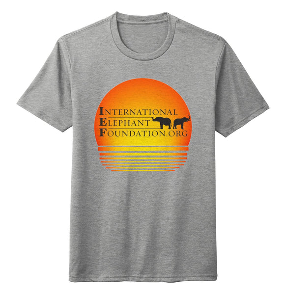 International Elephant Foundation - IEF Sunset Logo - Adult Tri-Blend T-Shirt