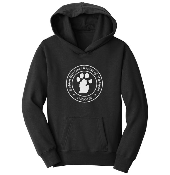 Golden Retriever Rescue of Michigan Logo - Full Front White - Youth Hoodie