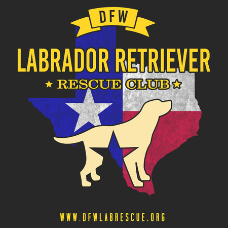DFW LRRC Texas Flag Yellow Lab Logo - Adult Unisex T-Shirt