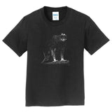 Black Hawk Eagle on Black - Kids' Unisex T-Shirt