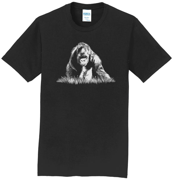 Gorilla on Black - Adult Unisex T-Shirt