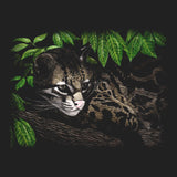 Ocelot on Black - Women's Fitted T-Shirt